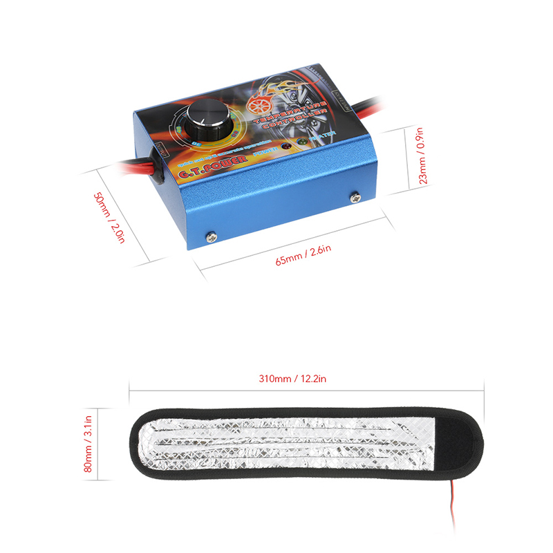 911129-G.T.POWER 30-80ºC Temperature Controlled Tire Warmer Strip Heater for 1/10 Touring Car Pre-heat Rubber Tires