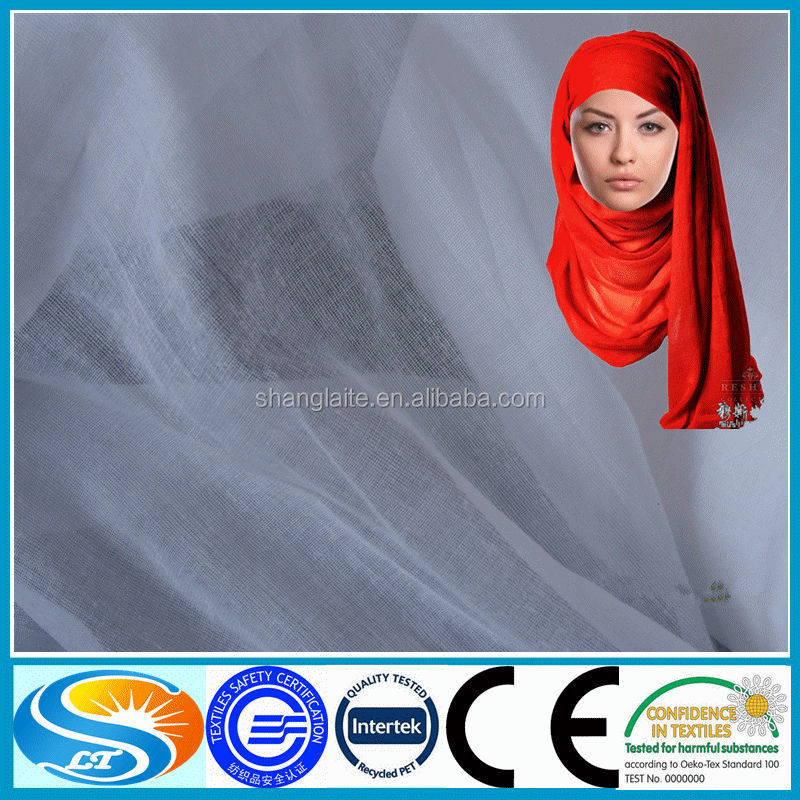 100% polyester spun voile fabric for wedding dresses