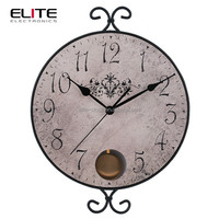 home decor personalized old wrought iron antique pendulum wall clocks