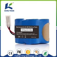 3.6V 7.2V Aa 600Mah 1500Mah Sc Cell Ul Ce Rohs Nimh Nicd Battery Pack for vacuum cleaner