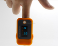 Finger clip portable pulse oximeter