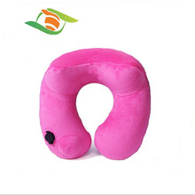 Automatic Inflatable Pillow for Airplane Camping Travel U Shape Air neck pillow add eyeshade