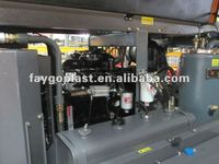 400CFM mining screw air compressor diesel driving
