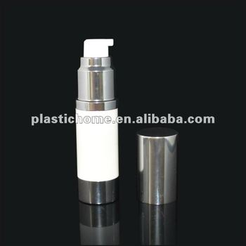 airless bottle silver