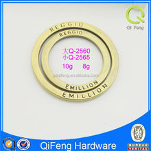 Q-2560&2565 o ring for bags fancy round metal eyelet high quality