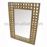 Rectangle Fashion Cheap Design wood mirror Morden solid wood and wanll decoration mirror