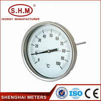 Steam boiler temperature gauge, bimetal thermometer