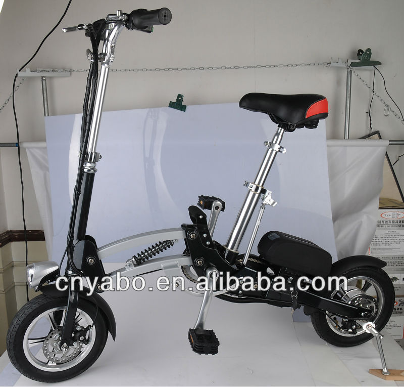 mini folding bicycle 12'' 250w brushless motor 36v 10Ah Pocket Bike ebike electric bicycle 40 mile range