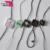Hot sale custom garment hang tag rope fastener/seal string cord tag/clear plastic elastic cord