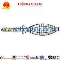 BBQ stainless steel fish grill with non-stick coating/barbeque fish grill/bbq accessories