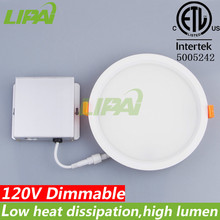 12W hot sale LED dimmable panel light led ceiling light cETL ETL approved with junction box