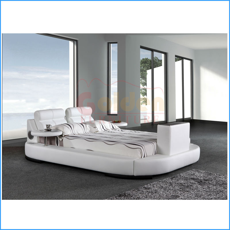 modern design leather beds with built in tv buy beds with built in tvbed with tv in with tv in the footboard product on alibabacom