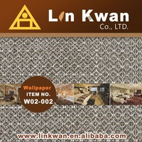 Linkwan Taiwan style wallpaper woven PE fabric wallpaper pink/LK