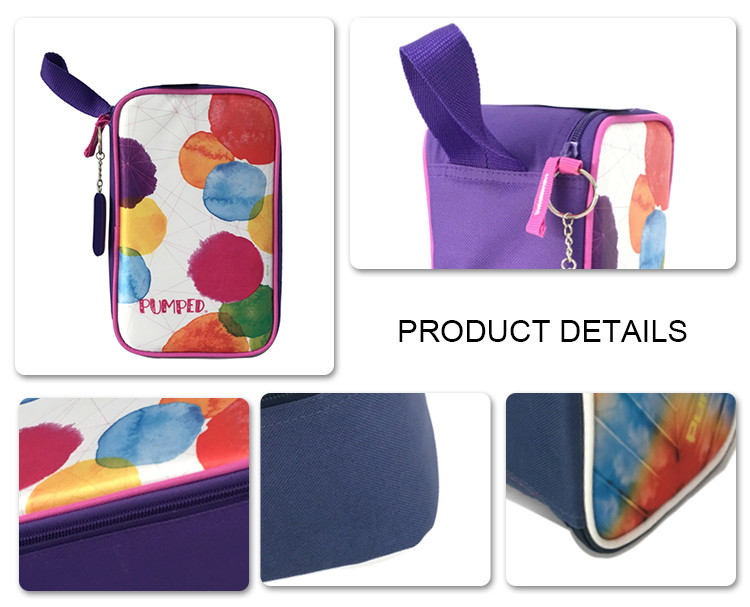 Summer hot custom fashion outdoors portable canvas lunch bag