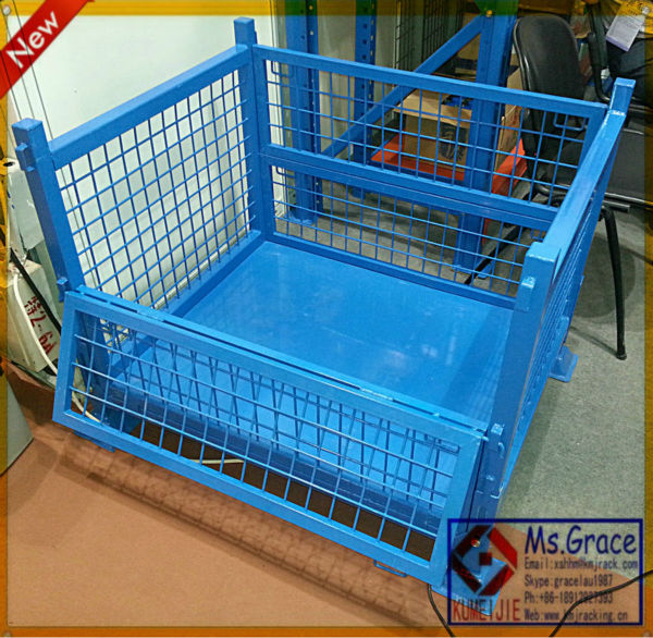 Heavy Duty Collapsible Steel Wire Mesh Pallet Bin