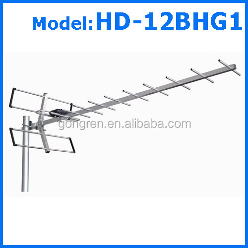 outdoor dvb-t dvb-t2 antenna with amplifier model HD-12BHG1