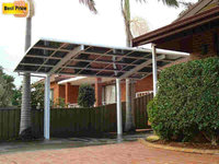 3*5.5*2.7m Hot sale aluminum frame polycarbonate carport, parking canopy, parking tent