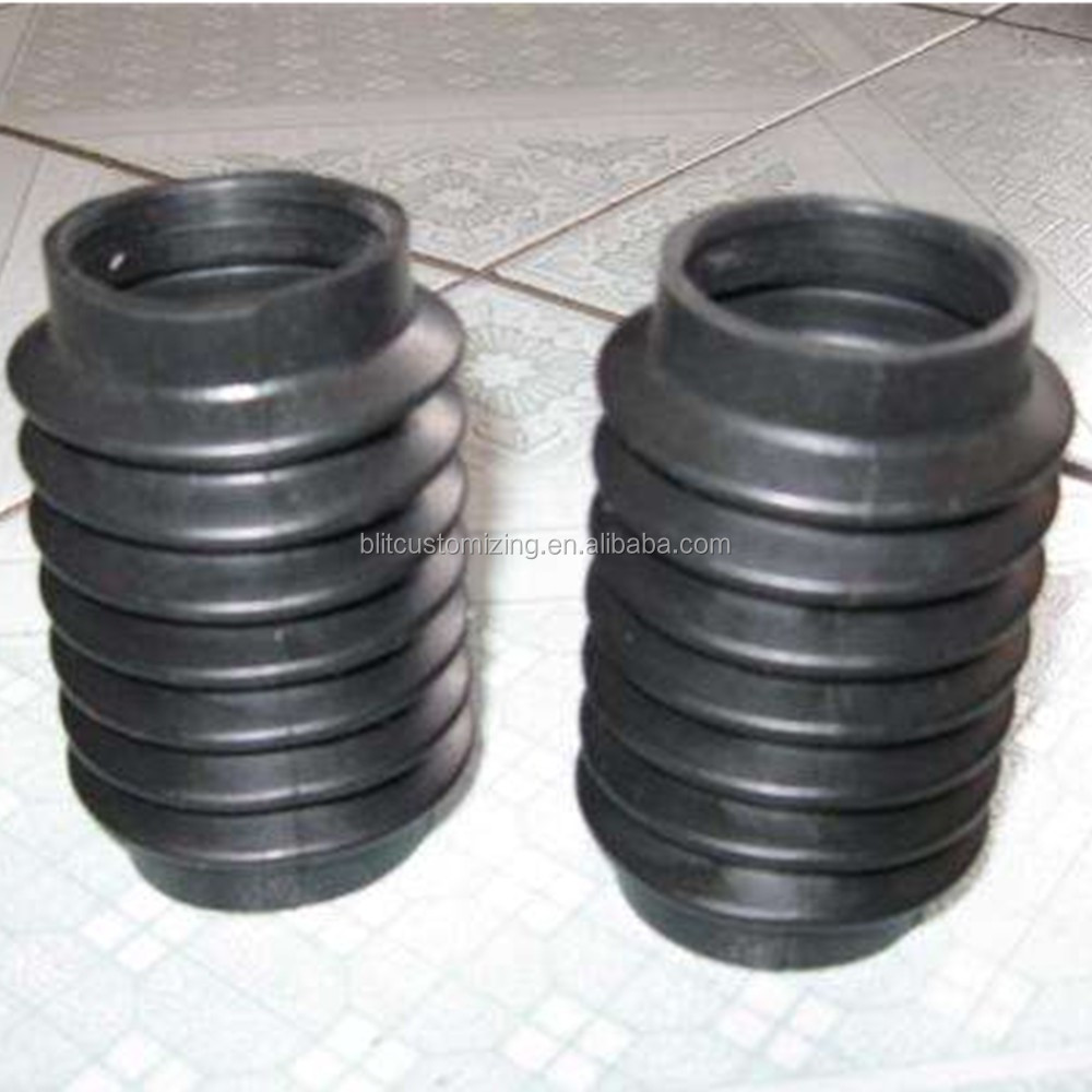 Customized rubber dustproof cap rubber dustproof cover for machines and spring accordion rubber bellows