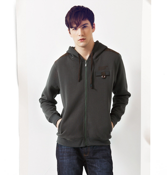 22Gentlemen's round collar long sleeve zipper thickens maintains warmth jacket for Atumn season,fom Guangzhou