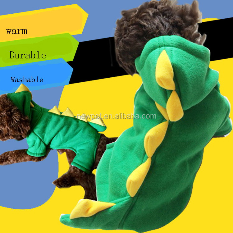 Top grade new import dinosaur four foot clothes winter pet dog cloth