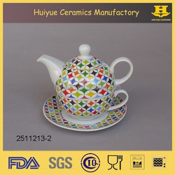 porcelain teapot for one new design tea set tea cup pot in one