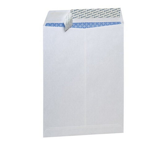 FSC Ampad 73127 Ampad Fastrip Pull & Seal Security Envelope, 9 x 12'' 120gsm, White, 100/CMYK Printing Box