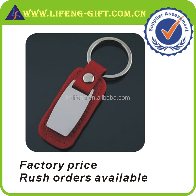Custom Red Leather Key Ring Maker