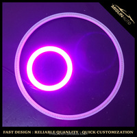 Changing Color 60MM Angel Eyes 42 Chips COB LED Car Ring Light IR Remote