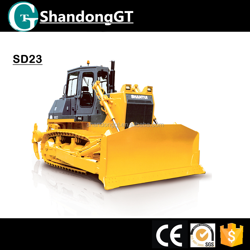 230HP crawler dozer, SD23 small bulldozer for sale with weichai engine