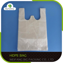 2015 hot sale Customized print shopping bag HDPE die cut plastic bag shopping bags, gift bags, grocery hdpe bags