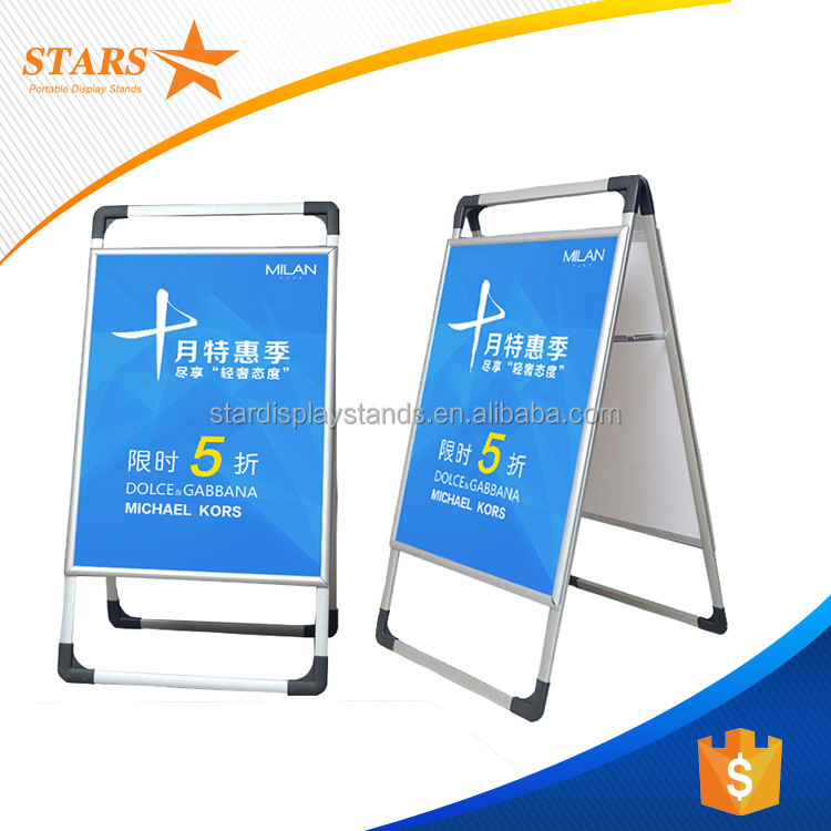 Portable Wholesale A Frame Signs , Aluminum Frame for Sign Board
