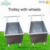 Supply Best price Stainless Steel hand trolley poultry farm equipment super-silent trolley wheel