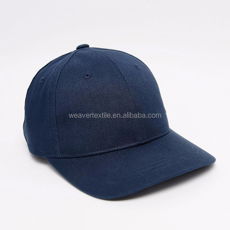 Lether Strap Navy Blue Plain Custom Cotton Cap