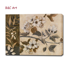 Modern art pictures white flower oil painting home decor accesories