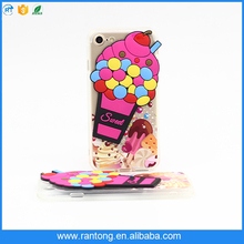 Hot sale Ice Cream Silicon Case cover ,3d ice cream Phone Case for iphone5