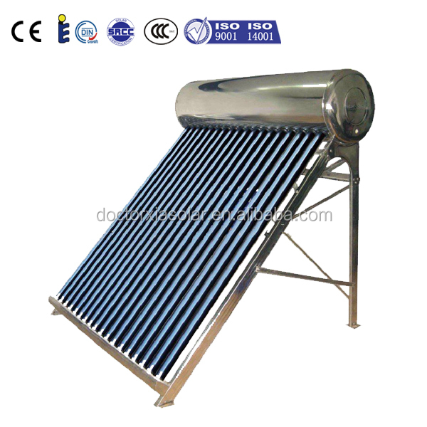 200 Liters Evacuated Tube Compact Non-pressurized solar water heater, solar air collector, mini vacuum tube amplifier