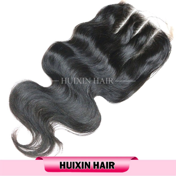 Indian Remy Hair Three Part Lace Closure