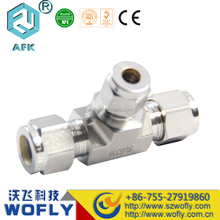 2016 hot sale equal T shape 3/8 pipe stainless steel tube fitting
