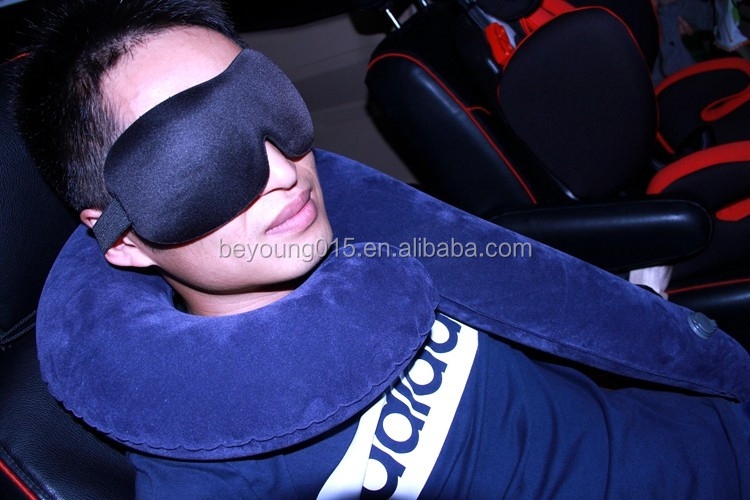 2017 customized L shape Inflatable travel Pillow for car +inflatab wadge pilow travel Neck Rest