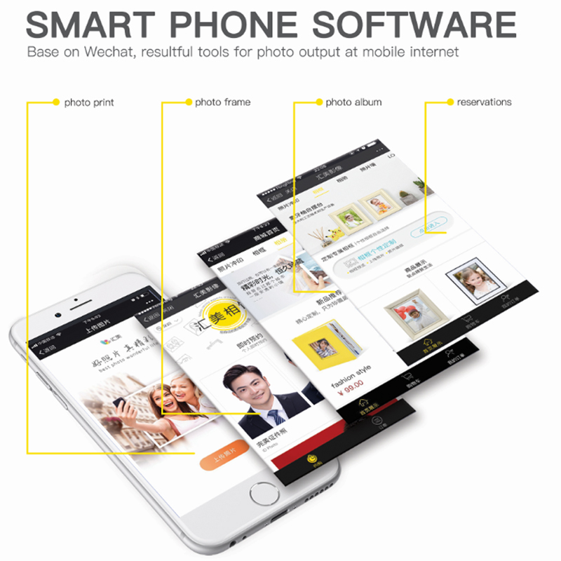 Smart photo output mobile phone software