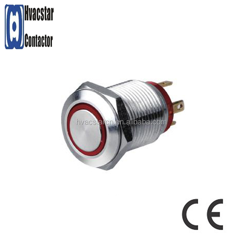 CE RoHS certificated Metal Push Button Switch emergency stop