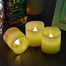 Party decoration warm white flameless LED tea light candle