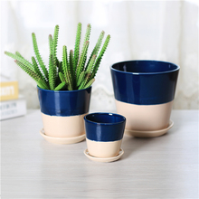 Top quality ceramic cup and saucer flower plant pot