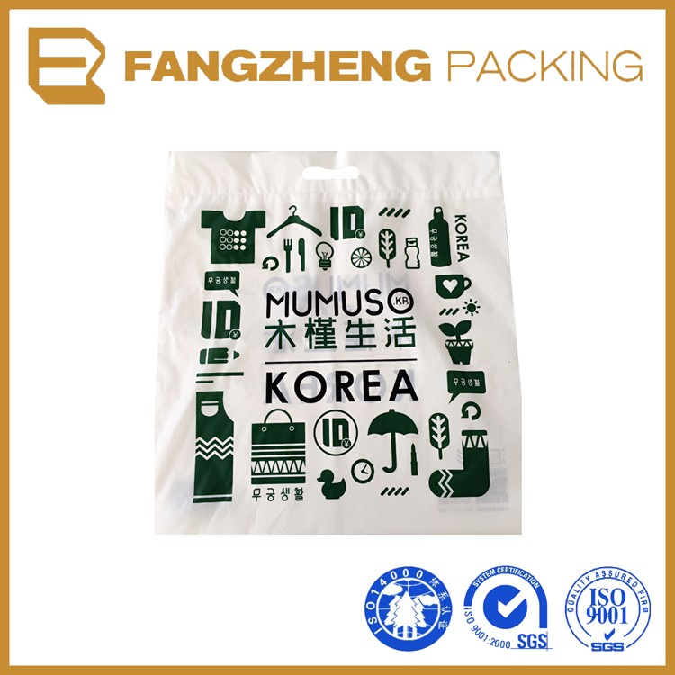 High quality custom printing logo plastic die cut bag