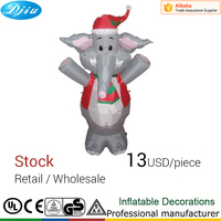 4FT Inflatable Christmas ELEPHANT decoration with Light Air blown