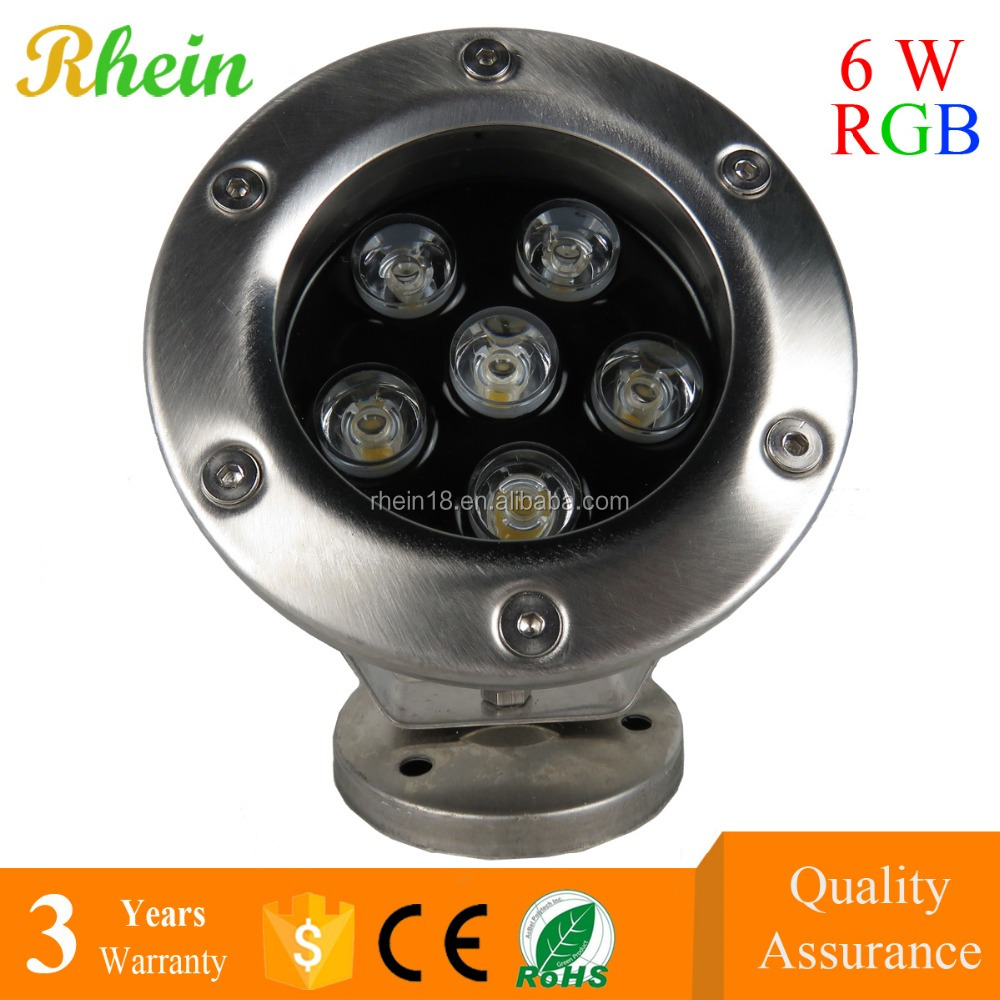 Manufacture price Swimming Pool 6W DMX RGB IP68 LED Pool Light Wireless