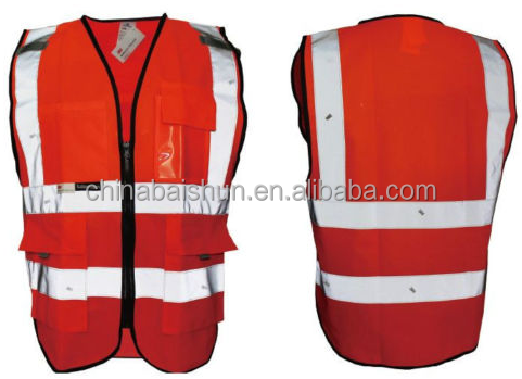 CHINA wholesale Pockets High Visibility Zipper reflective Safety clothing