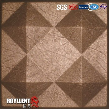 3d texture wall panel leather