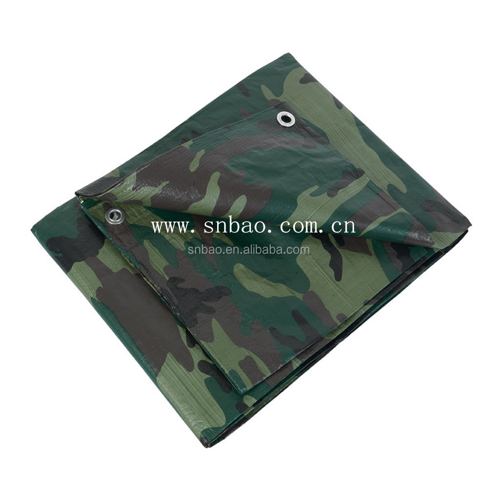 65gsm~350gsm Camo pe Tarps China Manufactured Waterproof Camouflage Tarpaulin