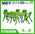 SF-08C Daycare Kids Furniture PE Plastic Children Table and Chairs Dining Table